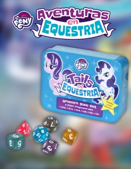 Caja de Dados Unicornio. My Little Pony: Aventuras en Equestria.