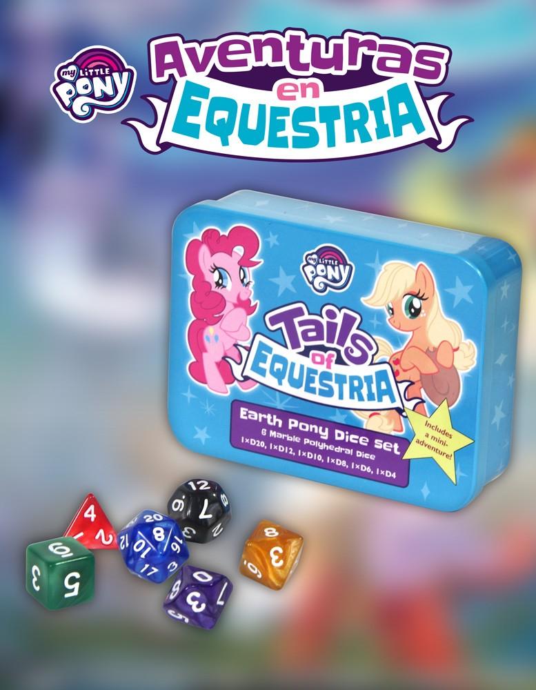 Caja de Dados Terrestre. My Little Pony: Aventuras en Equestria.