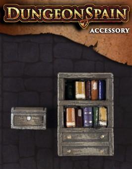 Pack accesorios 03: Librería y baúl