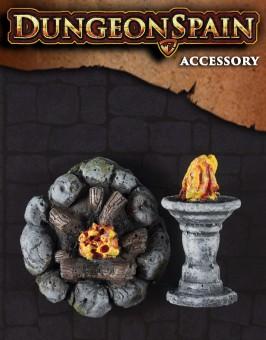 Pack accesorios 7: Hoguera y pebetero