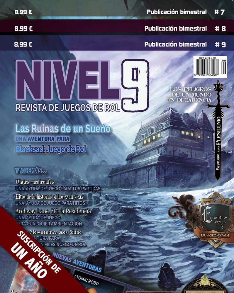 Suscripción a la revista Nivel 9 desde el 7
