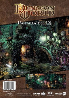 Dungeon World: Pantalla del DJ (papel)