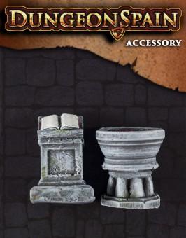 Pack accesorios 09: Atril y pila