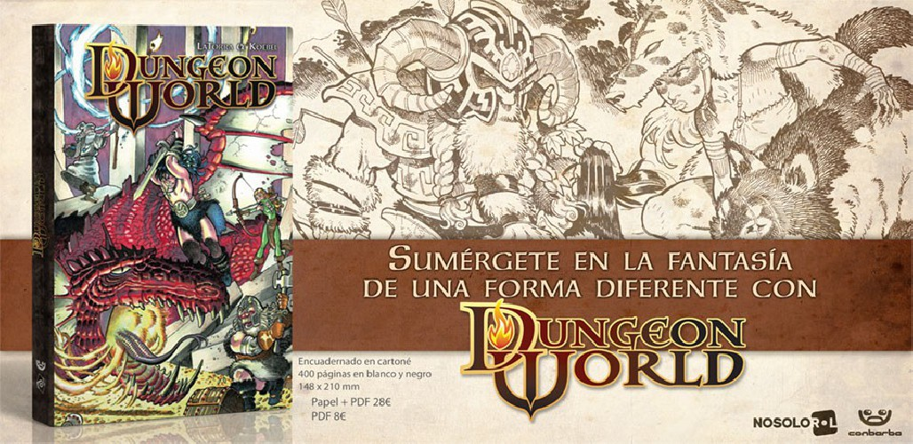 El Bárbaro y el Inmolador llegan a Dungeon World